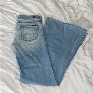 7 For All Mankind Super Flare Jeans in Ibiza